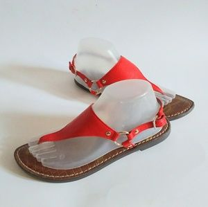 Sam Edelman 8M Greta Red Thong Sandals